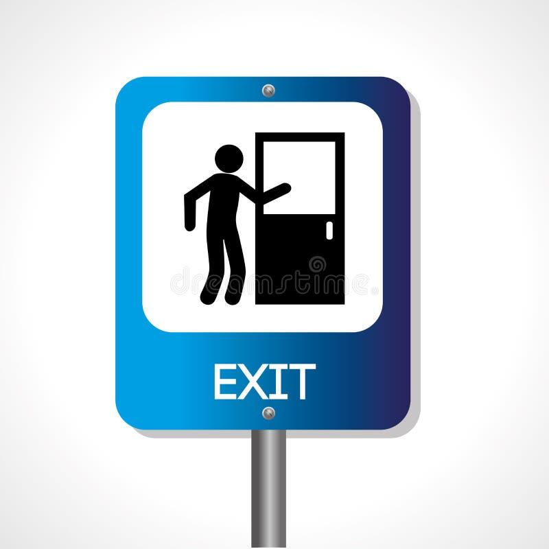 Exit signal royalty free illustration