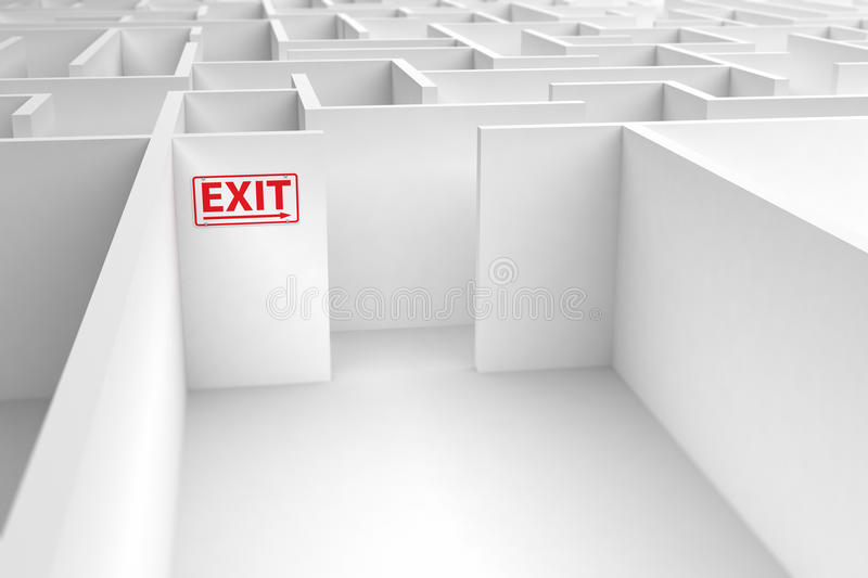 Exit strategy. Conceptual image displaying the risk of a faulty exit strategy royalty free illustration