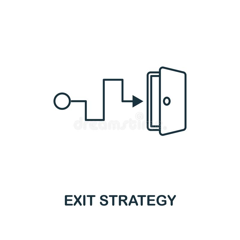 Exit Strategy outline icon. Thin line element from crowdfunding icons collection. UI and UX. Pixel perfect exit strategy vector illustration