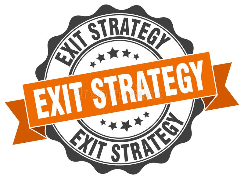 exit strategy seal stock illustration