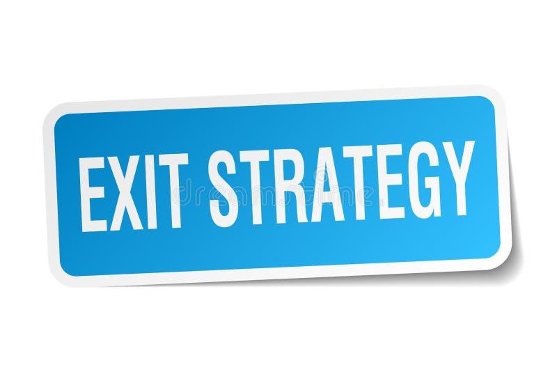 exit strategy sticker stock illustration