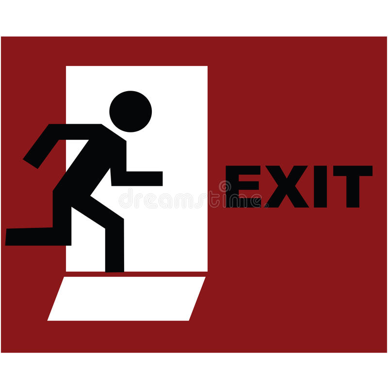 Download Exit symbol in red stock illustration. Image of security - 14387140
