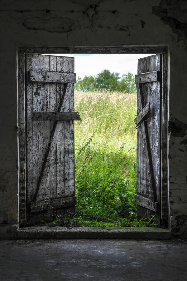 Download Exit to Green Meadow stock photo. Image of garden, building - 71716150