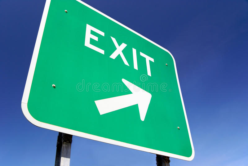 Exit Traffic Sign Royalty Free Stock Image