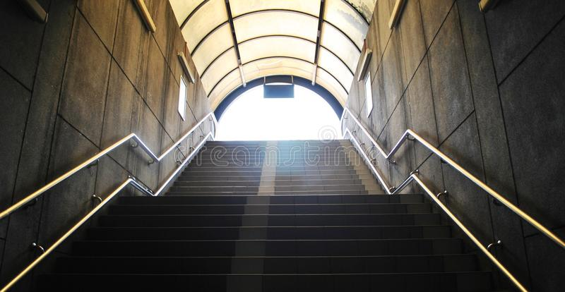 The exit from the underground royalty free stock photos