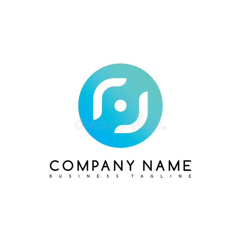 exklusiv konst för logotyp för logo för märkesföretagsmall stock illustrationer