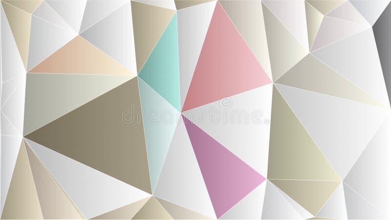 Exklusiv rosa guld- tapet för abstrakt polygon arkivbilder