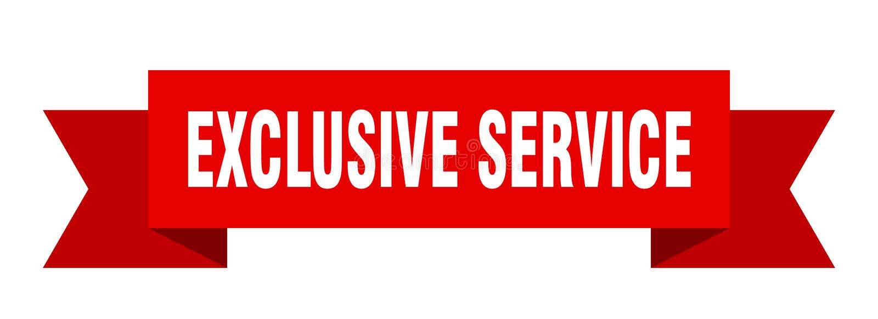 exklusivt serviceband royaltyfri illustrationer