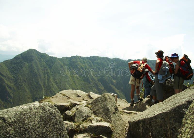 Exkursion in der Machu-Picchu Stadt stockbild