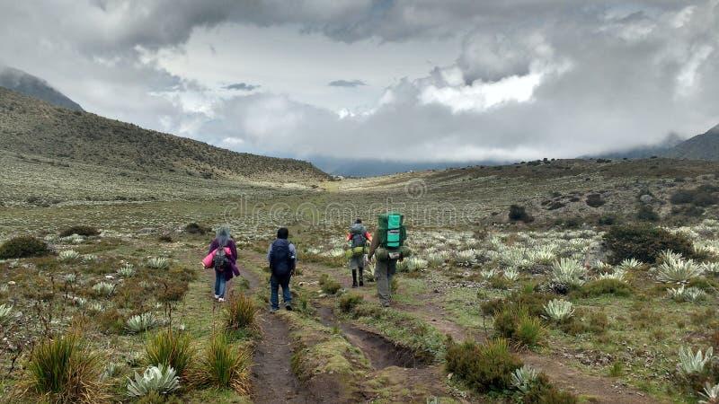 Exkursion durch die Anden lizenzfreie stockfotografie