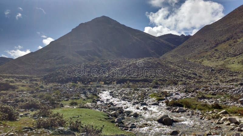 Exkursion durch die Anden stockfotografie