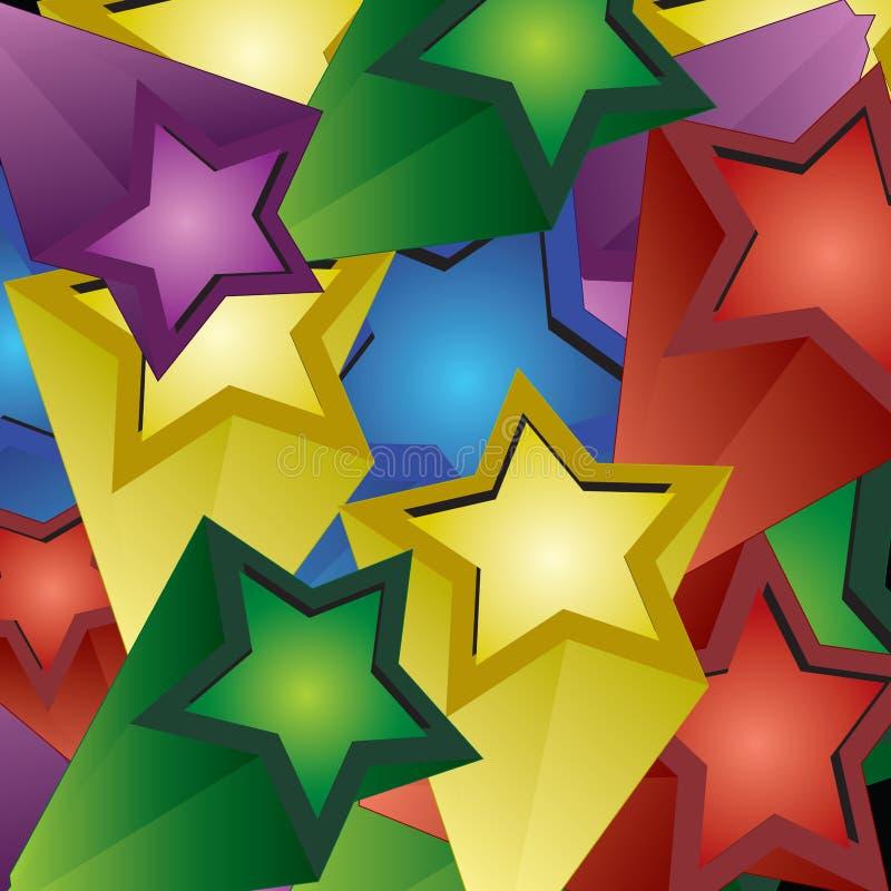 Exlosion van 3d sterren royalty-vrije illustratie