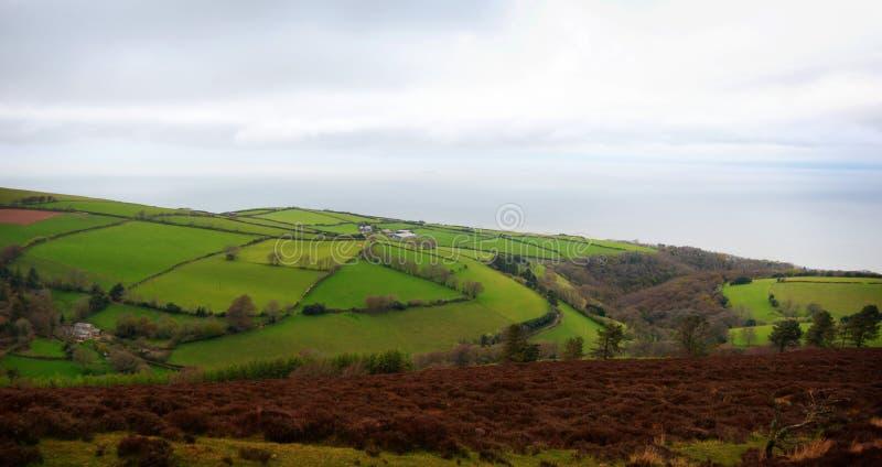 Exmoor dziedzictwa wybrzeże Zjednoczone Królestwo obraz royalty free
