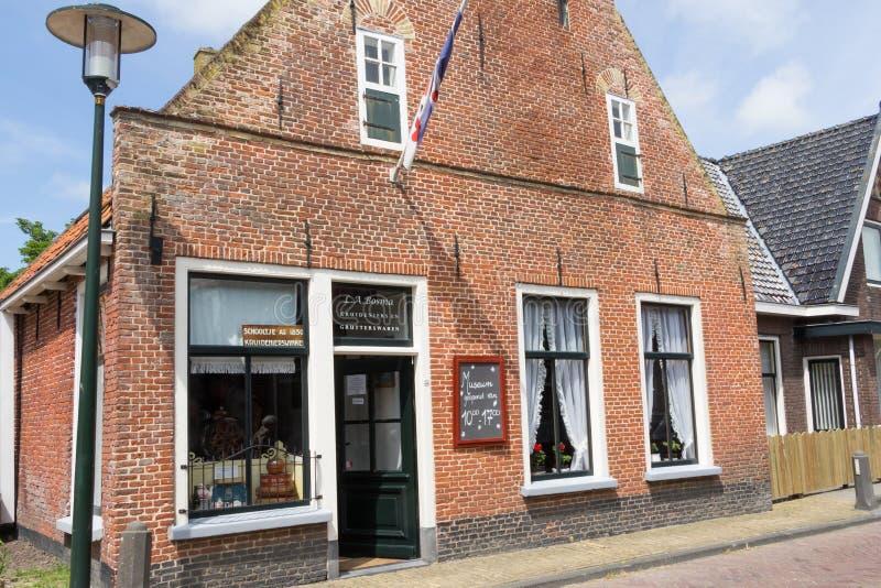 EXMORRA, PAÍSES BAIXOS, o 27 de junho de 2015: Mantimento holandês antigo fotografia de stock