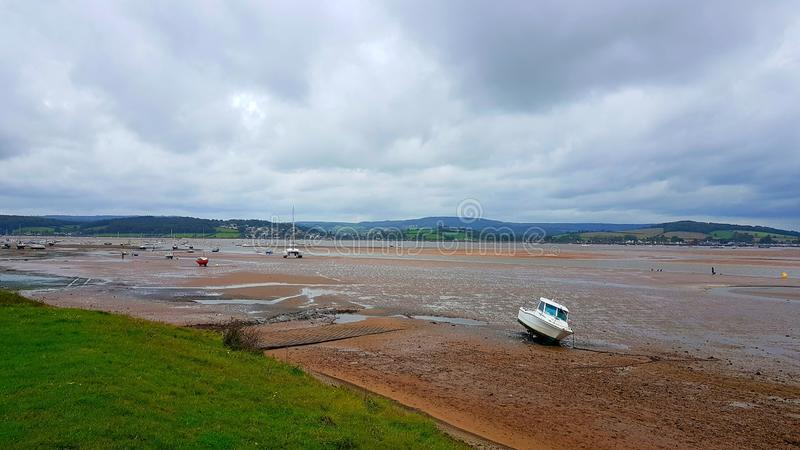 Exmouth Local Nature Reserve, Devon. Exmouth Local Nature Reserve, on the River Exe,  Devon royalty free stock image