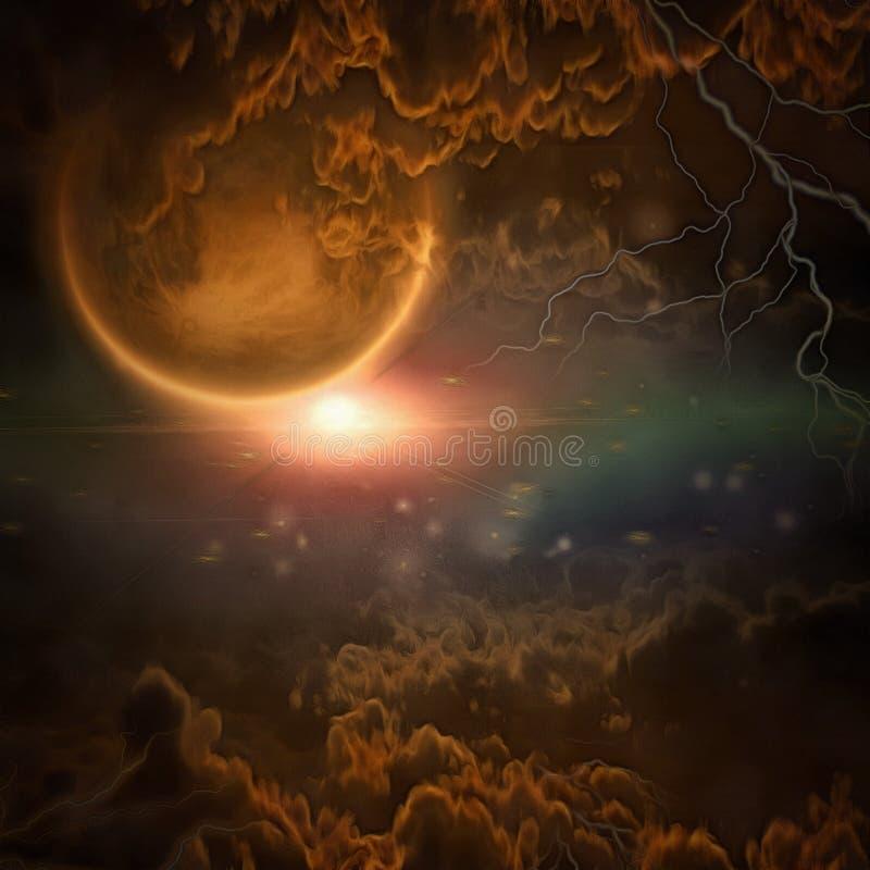 Exo-солнечная планета иллюстрация штока