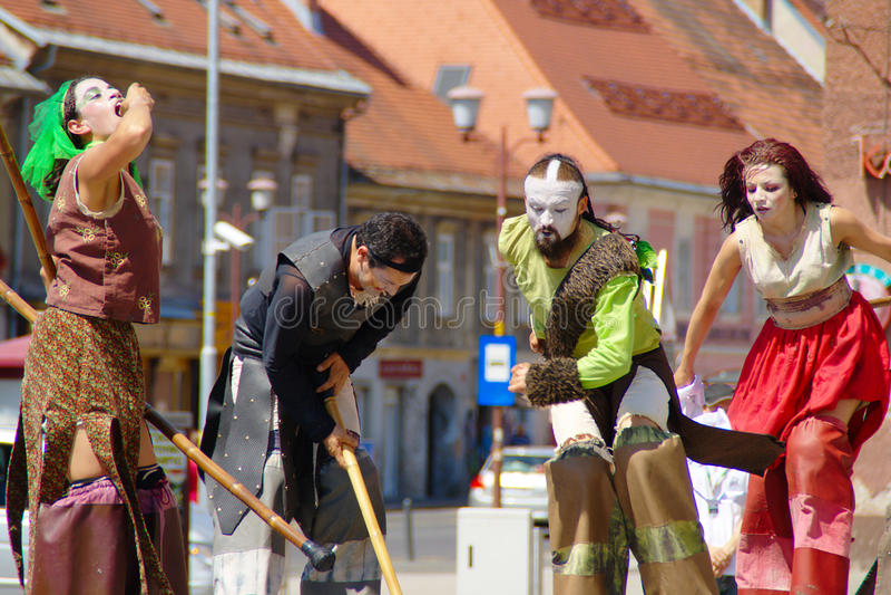 Exodo, Festival Lent stock photo