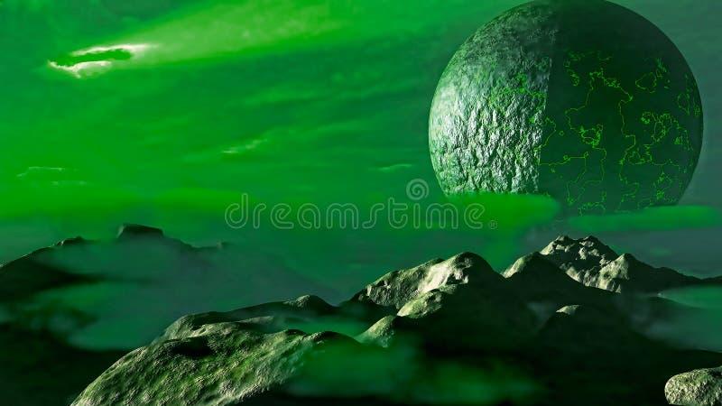 Exoplanet意想不到的风景 皇族释放例证