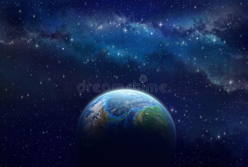 Exoplanet в глубоком космосе стоковые изображения rf