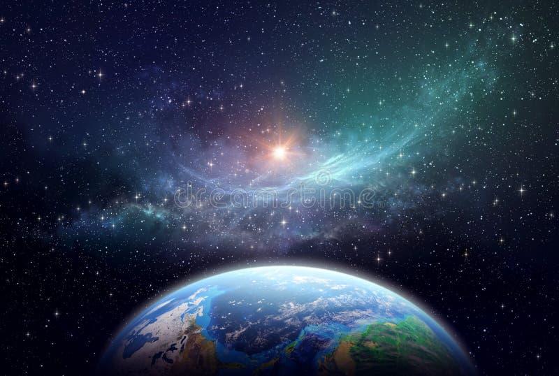 Exoplanet в глубоком космосе стоковая фотография