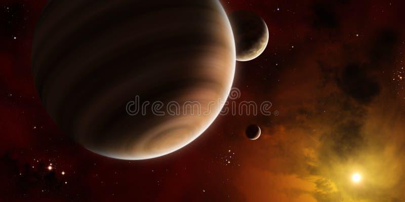 Exoplanet ilustração stock