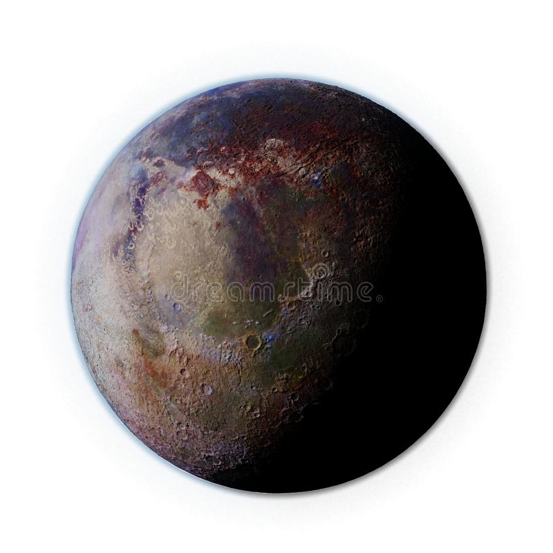 Habitable alien planet isolated on white background stock illustration