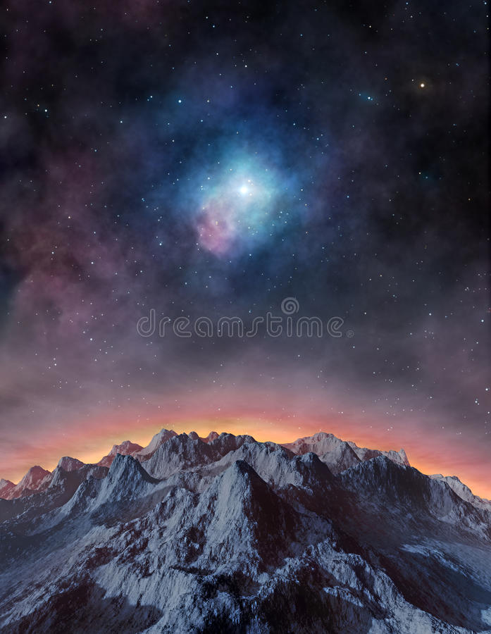Exoplanet distante royalty illustrazione gratis