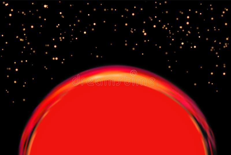 Exoplanet eller extrasolar planet också vektor för coreldrawillustration royaltyfri illustrationer