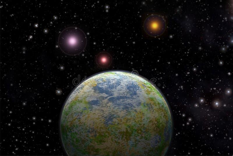 Exoplanet estrangeiro do planeta ilustração royalty free