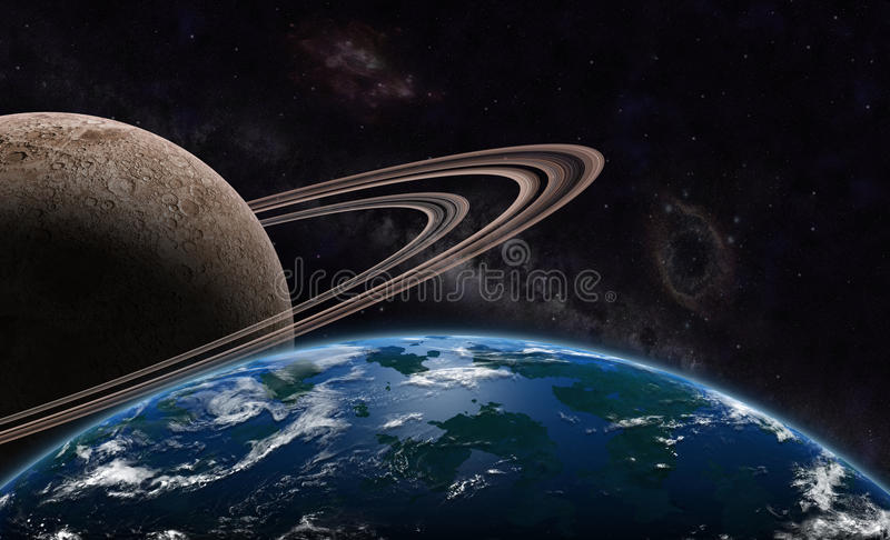 Download Exoplanet And Exomoon Royalty Free Stock Images - Image: 35307989