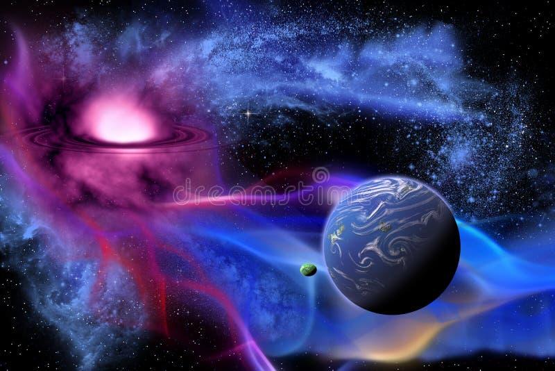 Exoplanet vector illustration