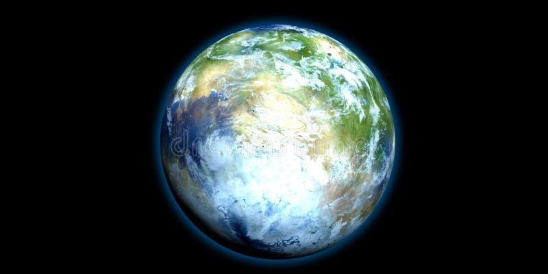 Exoplanet extrem ausführlich und realistische Illustration der hohen Auflösung 3D Geschossen vom Raum Elemente dieses Bildes werd vektor abbildung