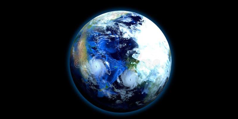 Exoplanet extrem ausführlich und realistische Illustration der hohen Auflösung 3D Geschossen vom Raum Elemente dieses Bildes werd lizenzfreie abbildung