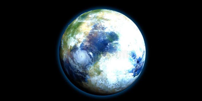 Exoplanet extrem ausführlich und realistische Illustration der hohen Auflösung 3D Geschossen vom Raum Elemente dieses Bildes werd stock abbildung