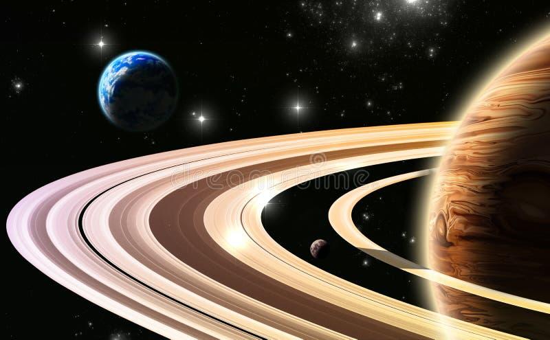 Exoplanets. Exterior de nosso sistema solar ilustração stock