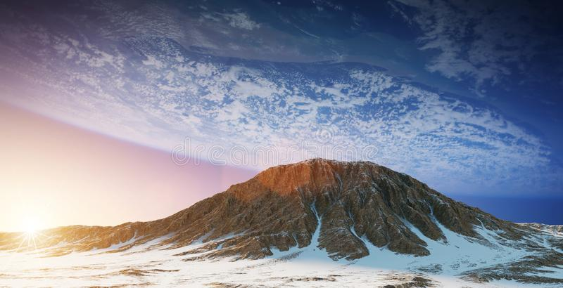 Exoplanets in space 3D rendering elements of this image furnished by NASA stock illustration