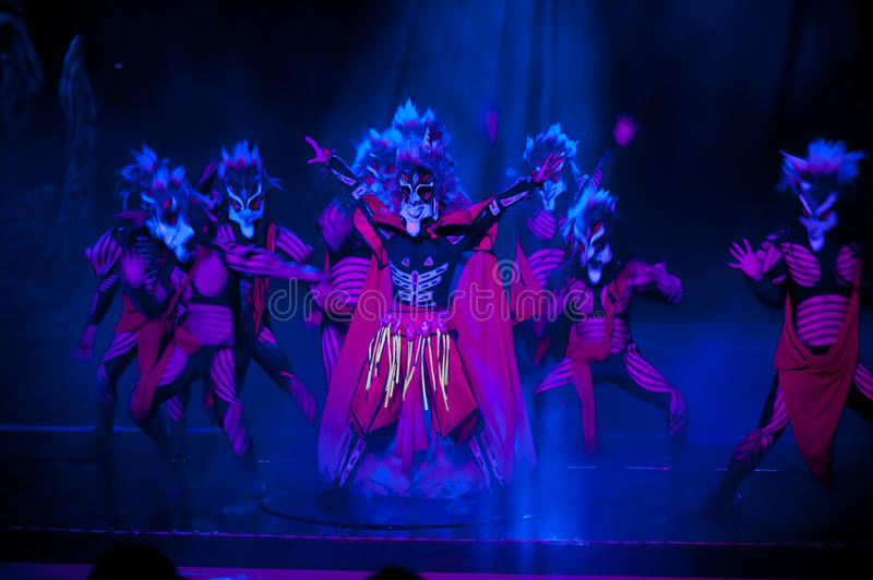 Exorcise--The historical style song and dance drama magic magic - Gan Po. In July 16, 2011, the big historical style song and dance drama magic magic Gan Po stock image