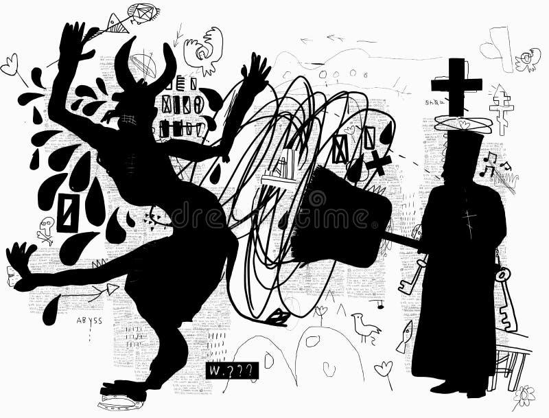 exorcism stock illustrationer