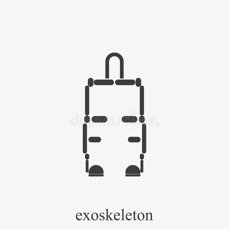 Exoskeleton eenvoudig vectorpictogram Internationale Dag van gehandicapte Personen stock illustratie