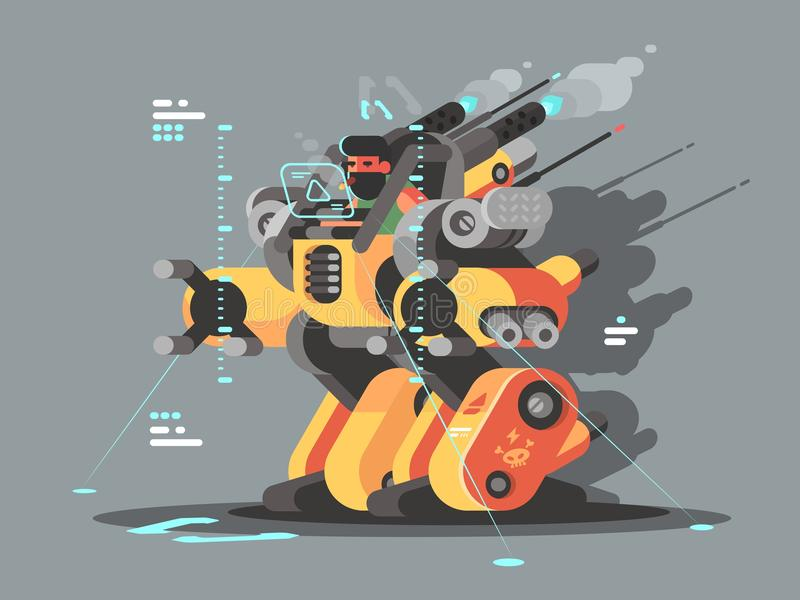Exoskeleton innovative robot. To help people with disabilities. Vector illustration royalty free illustration
