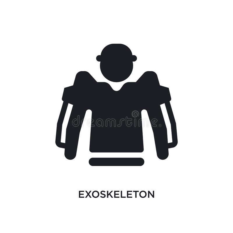 Exoskeleton isolated icon. simple element illustration from artificial intellegence concept icons. exoskeleton editable logo sign. Symbol design on white royalty free illustration