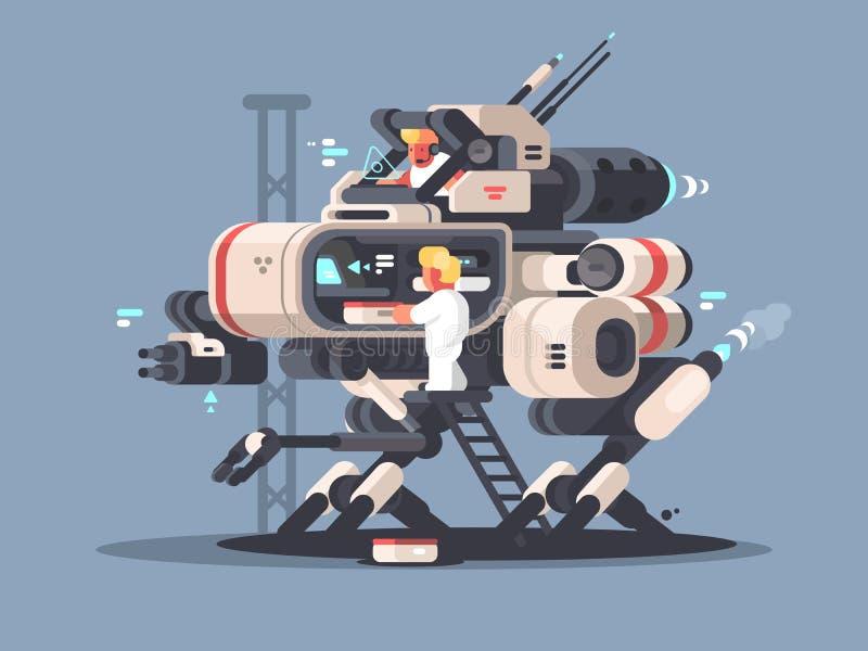 Exoskeleton médico para a operação complexa ilustração do vetor