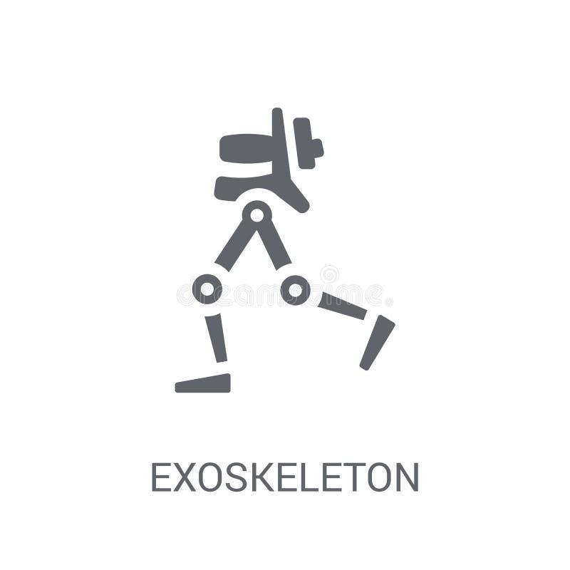 Exoskeleton pictogram  royalty-vrije illustratie