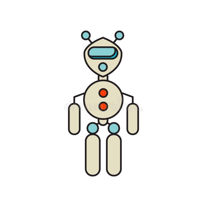 Exoskeleton pictogramvector op witte achtergrond, Exoskeleton teken, technologiesymbolen wordt geïsoleerd dat royalty-vrije illustratie