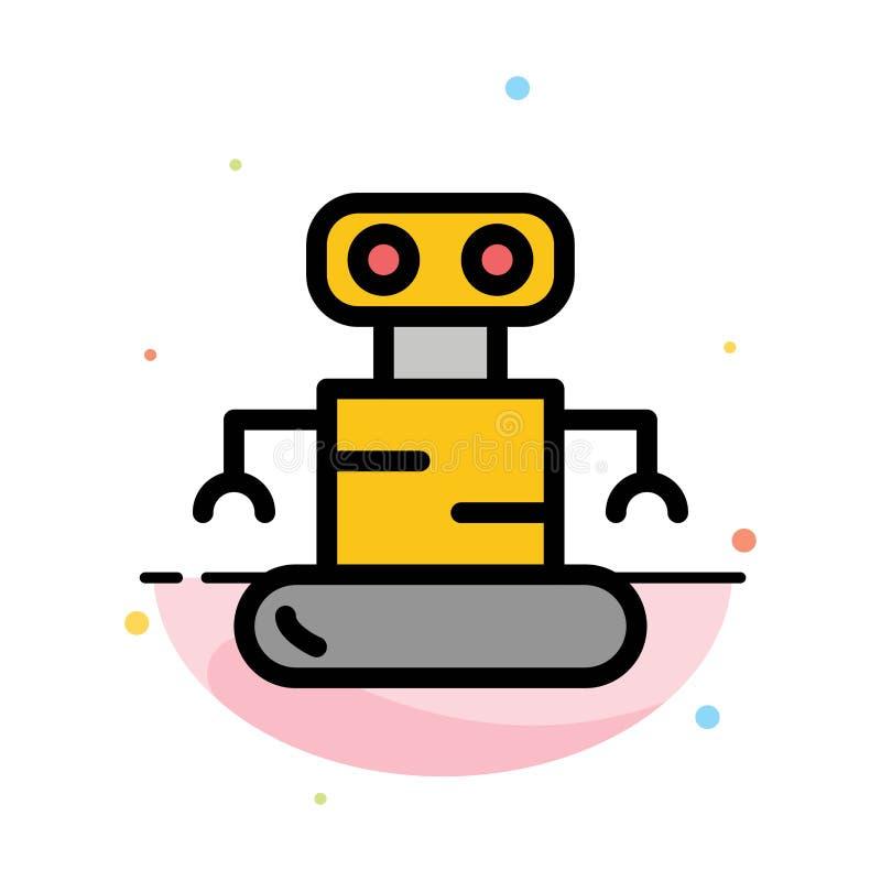 Exoskeleton, Robot, het Ruimte Abstracte Vlakke Malplaatje van het Kleurenpictogram royalty-vrije illustratie