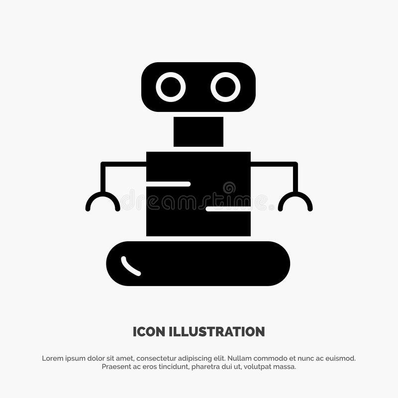 Exoskeleton, Robot, Ruimte stevige Glyph-Pictogramvector vector illustratie