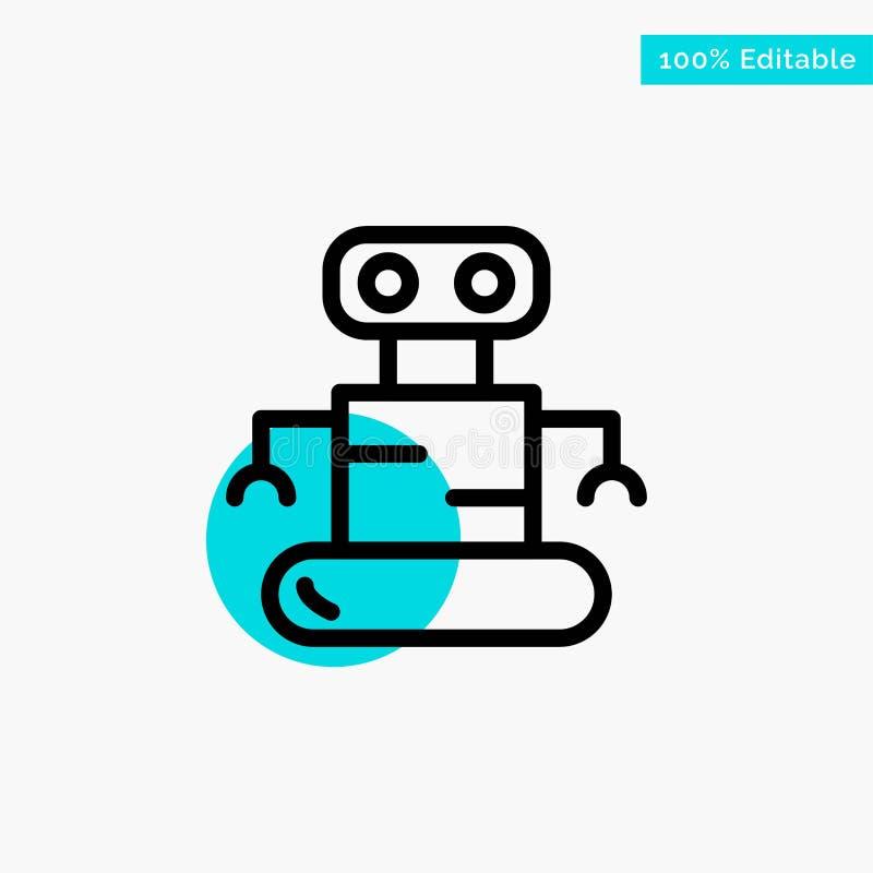 Exoskeleton, Robot, Ruimte turkoois het punt Vectorpictogram van de hoogtepuntcirkel stock illustratie