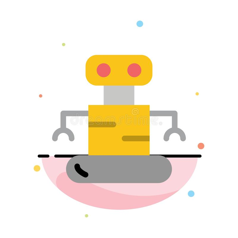 Exoskeleton, Robot, Space Abstract Flat Color Icon Template royalty free illustration