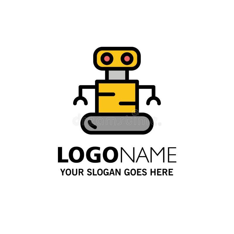 Exoskeleton, Robot, Space Business Logo Template. Flat Color vector illustration