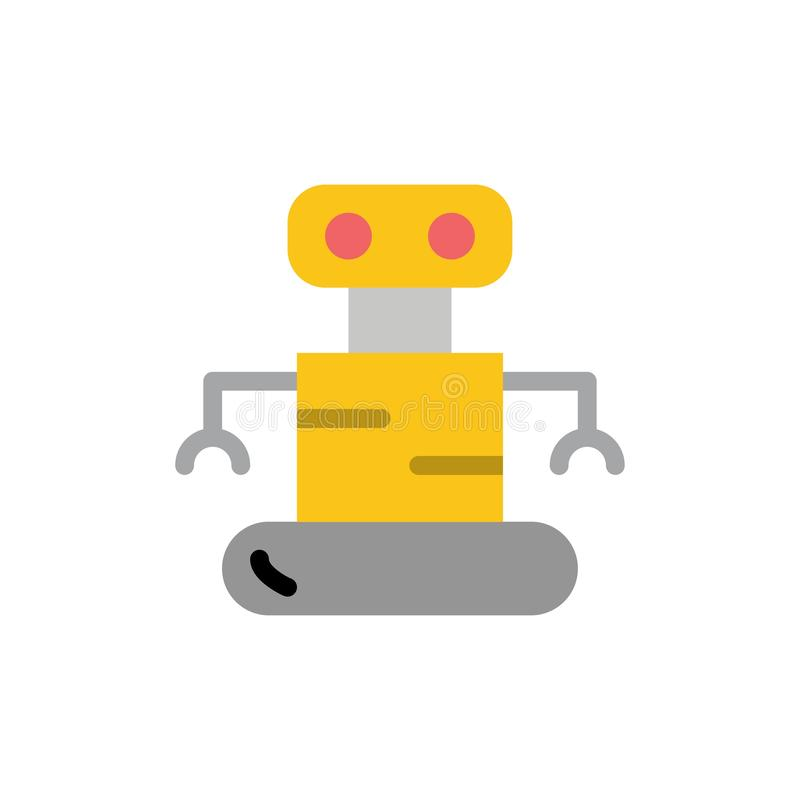Exoskeleton, Robot, Space  Flat Color Icon. Vector icon banner Template royalty free illustration